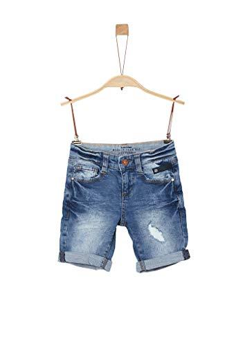 s.Oliver Junior Jungen 404.10.004.26.180.2037946 Jeans-Shorts, 54Z3 Stone wash Destroy, 128