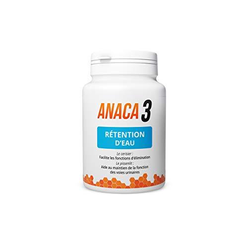 Anaca3 –Rétention d'Eau – Élimination Urinaire & Rénale (3)– Complément Alimentaire – Programme 30 jours – 60 gélules