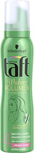 Schwarzkopf 3 Wetter Taft Schaumfestiger, Volumen Feines Haar Ultra Starker Halt 4, 6er Pack (6 x 150 ml)