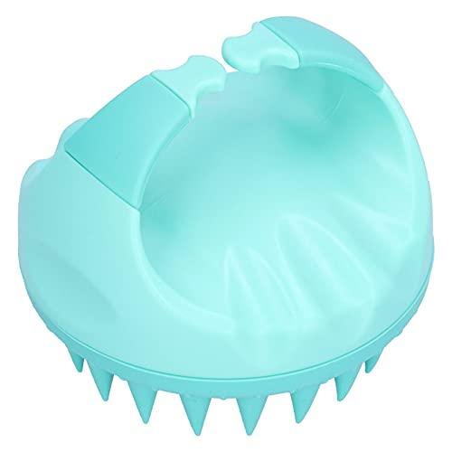 Masajeador para el cuero cabelludo, cepillo para el cabello, masajeador para el cuero cabelludo, limpieza de la caspa, masaje, champú, cepillo para limpiar el cabello(verde)