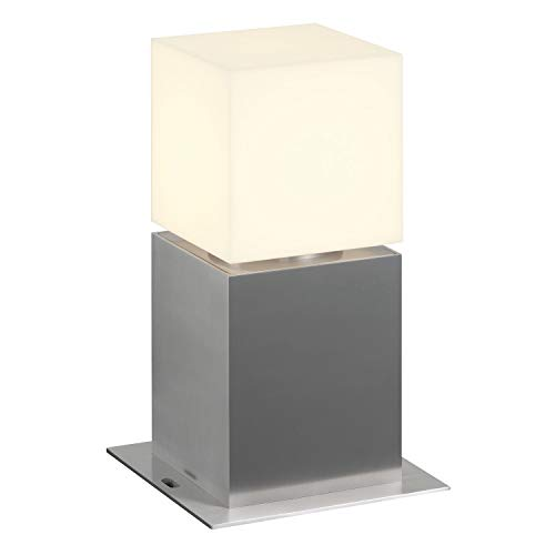 SLV LED Pollerleuchte SQUARE POLE 30 | Design Außen-Standleuchte, stilvolle Außenbeleuchtung dimmbar | Outdoor LED Wegeleuchte, Außen-Leuchte, Weg-Beleuchtung, Garten-Lampe | E27, EEK A-A++, max. 20W