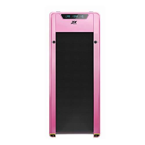 Li Ye Feng Shop Smart Home Stepper multi-function Silent Mini Multi-function Flat Electric Walker indoor Treadmill (Color : Pink, Size : 151 * 10.5 * 6.5cm)