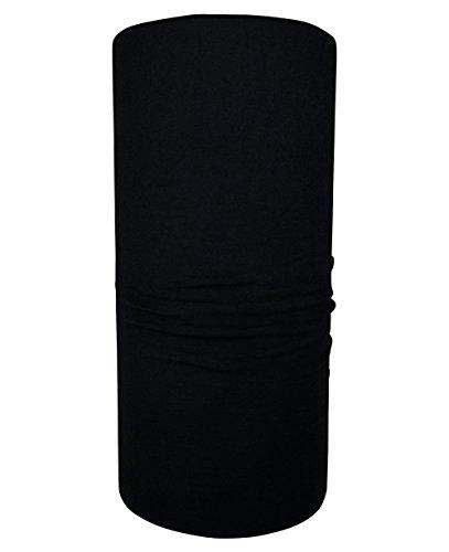 Hilltop Multifunktionstuch/Halstuch/Schlauchtuch/Bandana/unifarben, Farbe uni:schwarz