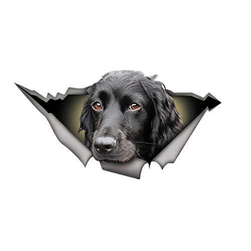 SHUNHUI CalcomaníA Tridimensional para Auto, Negro Cocker Spaniel, Pegatina para Auto con LáGrimas De Perro 3D, CalcomaníAs Impermeables (Paquete De 2)