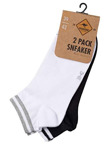 ROADSIGN australia Socken uni, im 2-er Pack, weiß/schwarz | 43-46