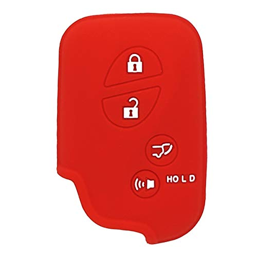 XUHANG Sillicone key fob Skin key Cover Keyless Entry Remote Case Protector Shell for Lexus GS430 GS300 IS350 IS250 LS460 GS450h GS350 ES350 LS600h LX570 RX450h RX350 HS250h red