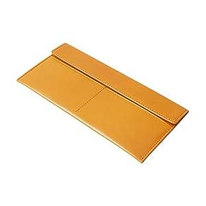 Dom Teporna Italy 財布 本革 メンズ 長財布 薄い 札入れ イタリアンレザー カードケース 薄型 レザー 小銭入れなし コンパクト 小さい ブラウン
