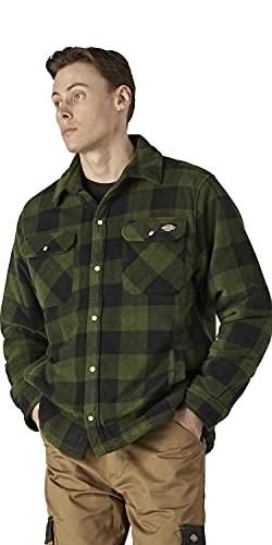 Dickies - Camisa térmica acolchada para trabajo, M, verde