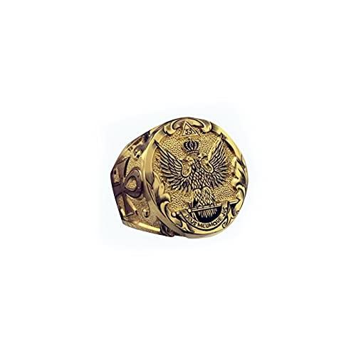 OOCA Estilo Explosivo 18K Chapado en Oro de Lujo Corona Americana Anillo de águila Anillo de Bodas aristocrático de Moda