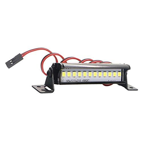Hellery 55mm RC Crawler Lámpara de Barra de Luz LED 1/10 RC Coche para TRX4 90046 90048 SCX10