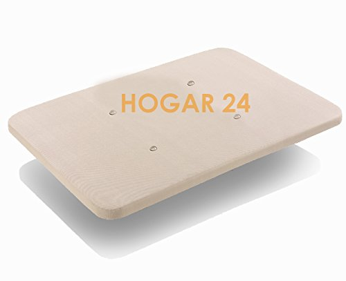 HOGAR24 Base tapizada 90x190 con Tejido 3D Crema, sin patas