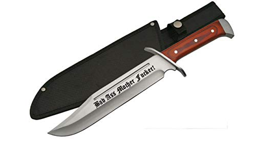 17' Bad Ass Mother Fucker! Hunting Bowie Survival Knife Military Blade With Sheath