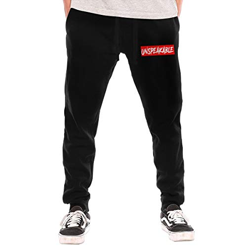JUJU Unspeakable with Red Box Men's Long Comfy Drawstring Trousers Waist Elastic Pants Casual Pants