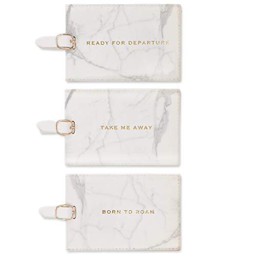 Eccolo World Traveler Marble Luggage Tags, Box Set of 3