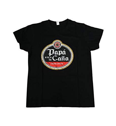 HOGARMISORPRESA Camiseta Negra Frase Papa Eres LA CAÑA - EDICION Especial .Regalo Dia del Padre Regalo Papas (XL)
