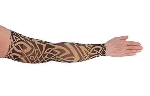 Lymphedivas Celtic Arm Sleeve 20-30mmHg Long with Diva Diamond Band (Large)