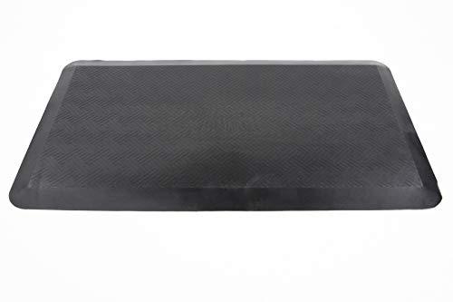 hjh OFFICE 721082 Anti-Ermüdungsmatte Restart Schwarz Stehtisch Fußmatte ergonomisch, 89 x 49,5 x 2 cm