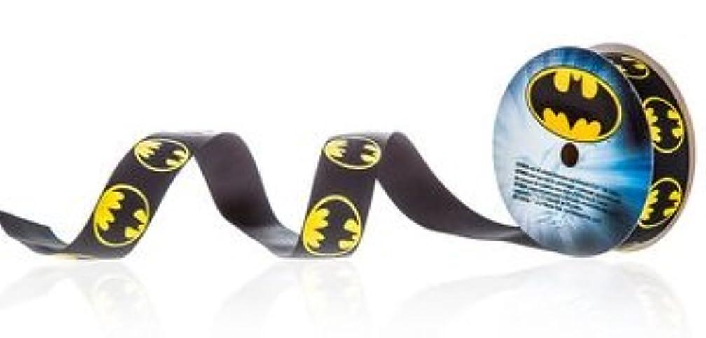 Batman Logo Printed Grosgrain Ribbon - 3 Yards