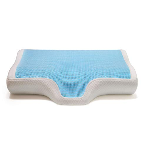 Cervical Pillow for Neck Pain, Orthopedic Contour Pillow Support Removable Cover, Best for Side, Back, Stomach Sleepers