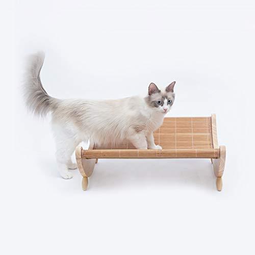 MuXiaRen Wooden Detachable Frame Pet Cots Cat Hammock Multifunctional Pet Tent Bed for Cat Kitten Puppy Indoor/Outdoor Sunshine,Wood