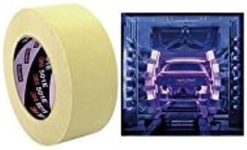 3M 501E crêpetape, 48 mm x 50 m, industrie- en automotive lakafdekking, beige (20 stuks)