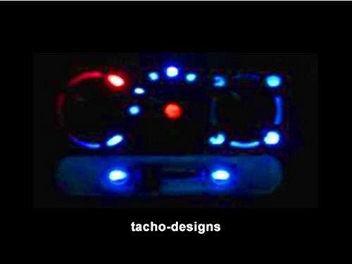 Beleuchtung für Heizungsblende Opel Astra F -Corsa/Combo B - Tigra - Heizung Blau, Rot, Grün, Weiß (Rot)