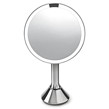 simplehuman 8  Sensor Mirror with Brightness Control, Stainless Steel, Brushed Stainless Steel