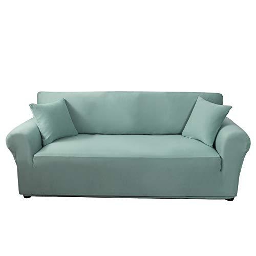 C/N Funda de sofá elástica 3 Asiento Fundas de sillón Ajustable Sofa Cubre Fundas para sofá elástica Lavables Antideslizantes para Mascotas Verde Azulado