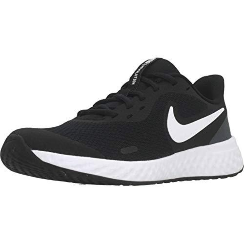 Nike Unisex-Kinder Revolution 5 (GS) Sneaker, Schwarz (black/white-anthracite 003), 39 EU
