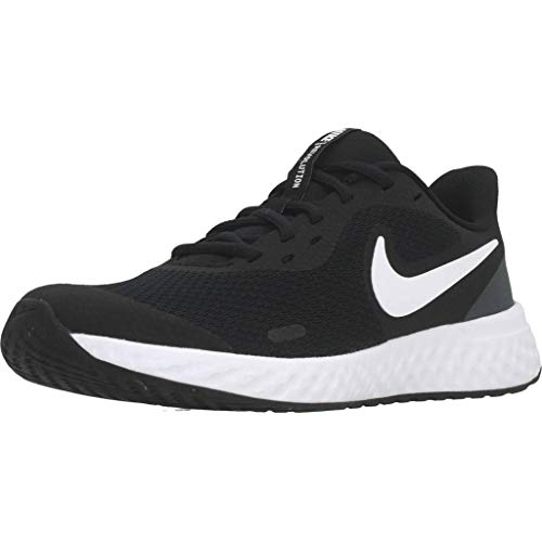 NIKE Revolution 5, Zapatillas Unisex Adulto, Black White Anthracite, 38.5 EU