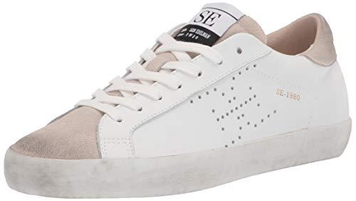 Sam Edelman Women's Aubrie Sneaker White/Greige 9 Medium