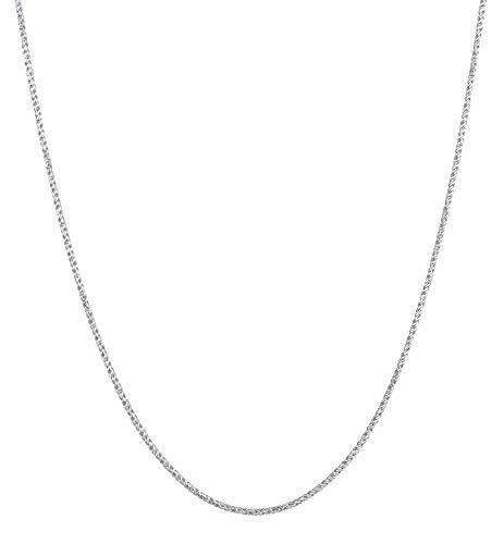 Kuzzoi Exclusivo collar de plata 925 para hombre, cadena redonda de 2 mm, cadena de plata maciza para hombre sin colgante, aspecto trenzado, longitud 55