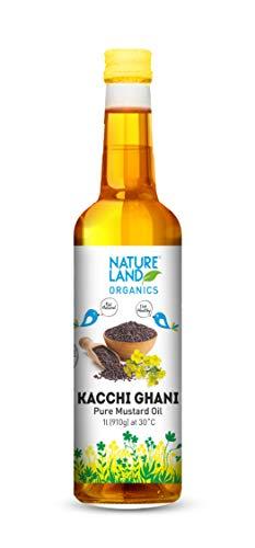 Natureland Organics Kachhi Ghani Pure Mustard Oil 1 LTR - Cold Pressed