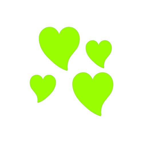 Quattroerre fluorescerende sticker hart Groen