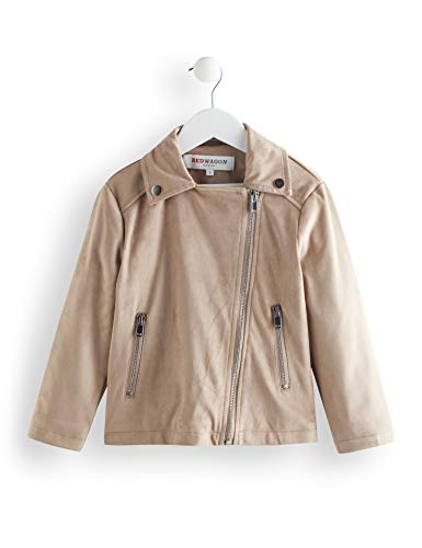 Amazon-Marke: RED WAGON Mädchen Mantel Suedette Biker Jacket, Beige (Beige), 146, Label:11 Years