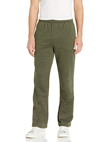 Amazon Essentials Men's Fleece Sweatpants, Olive Heather, XX-Large