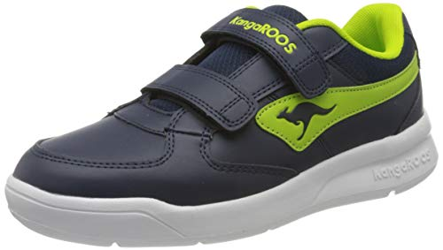 KangaROOS Unisex-Kinder K-Cope V Sneaker, Dark Navy/Lime 4054, 39 EU