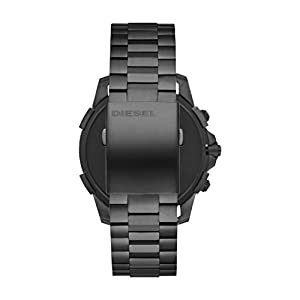 Diesel Men's Touchscreen Watch with Stainless-Steel-Plated Strap, Grey, 22 (Model: DZT2011)