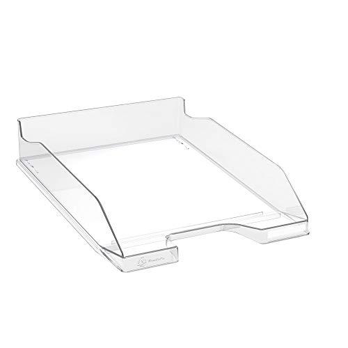 Exacompta - Réf. 113223D - 1 Corbeille à courrier COMBO MIDI - dimensions 34,6 x 25,5x 6,5 cm - pour documents au format A4 + - couleur cristal glossy