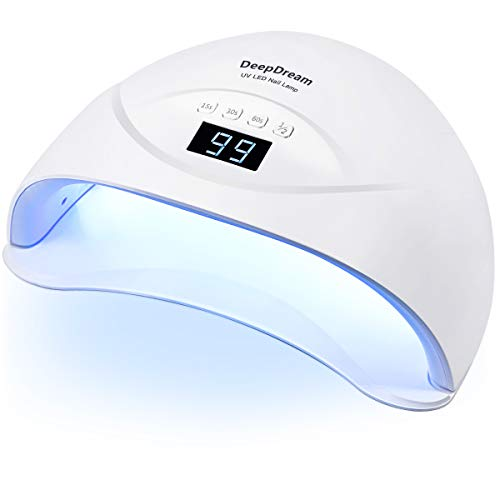 84W Nageltrockner, DeepDream UV Lampe für Gelnägel, Professionelle UV LED Nagellampe mit 4 Timer, Auto-Sensor, Nagelwerkzeuge für Fingernagel und Zehennagel gel shellac polygel