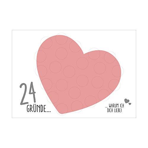 Kalender 24 Gründe Warum ich Dich liebe Rubbel Etiketten Liebeserklärung Lieblingsmensch