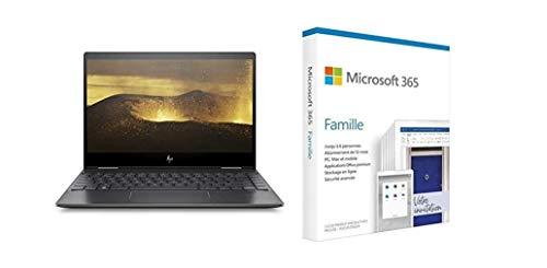 "HP Envy x360 13-ar0015nf PC Ultraportable Convertible et Tactile 13,3"" FHD IPS Noir ( + Microsoft 365 Famille   Box"