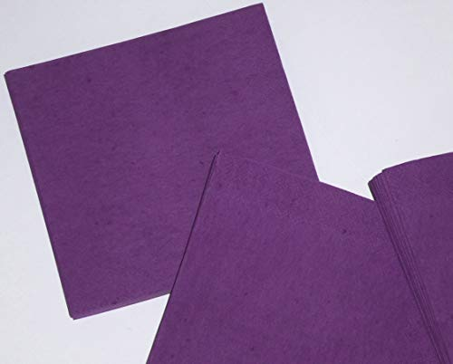 100 Stück Servietten - 3-lagig Mundservietten - Papierservietten dunkel violett - lila violet 505 - Serviette 1/4-Falz Größe: 33x33 cm 13x13 in - Zelltuchservietten - Dekoservietten