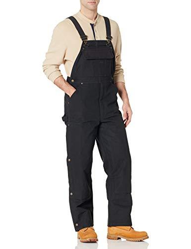 Amazon Essentials Duck Bib Quilt Lined Overall Pants, Negro, 31W x 34L