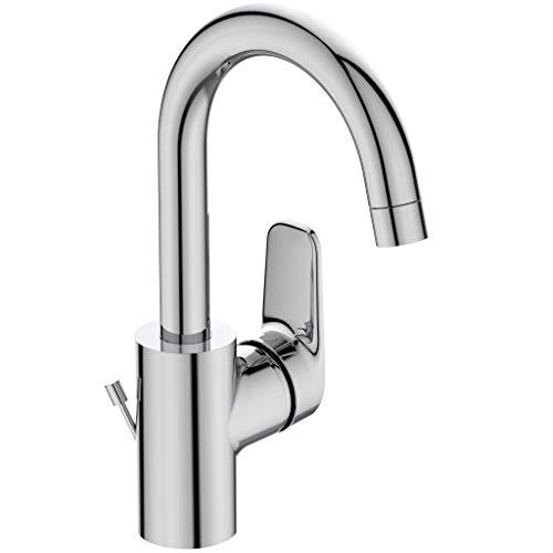 Ideal Standard B1716AA Ceraflex Waschtischarmatur hoher Auslauf mit Zugknopf-Ablaufgarnitur