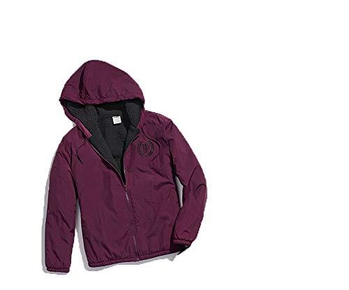 HOT BUY! – Victoria's Secret Pink Sherpa Lined Anorak Jacket – Medium/Large, Black Orchid
