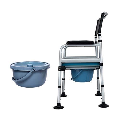 Deodorant Commodes Toilette/Höhenverstellbarer Klappstuhl Bad Toilettenstuhl Toilettensitze/Geeignet für Schwangere Alter Mann