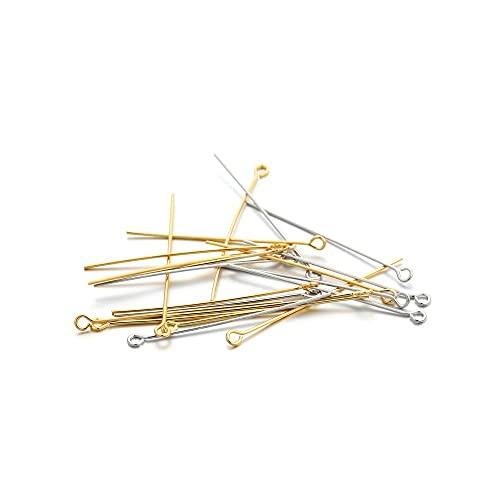 JOMOSIN QW817 100pcs 20 30 40 mm Cabecera de Chapado de Oro de Cobre Pin de la Cabeza Plana para Bricolaje Joyas Haciendo hallazgos Accesorios Accesorios de joyería