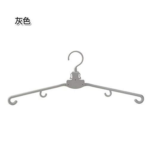 CHUITF opvouwbare kledinghanger, organizer, draagbaar wasrek met haken, 2 delen/los winddicht, kledinghangers lichtgrijs