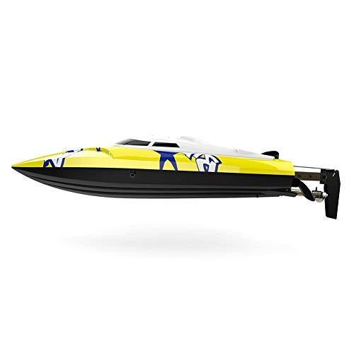 Barco teledirigido de 15 a 20 km/h, juguete de alta velocidad para adultos y niños, resistente e impermeable, con corrección de ruta y función de reinicio de rollover para piscina/lago